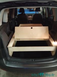 VW Touran Umbau - Kofferraumkiste