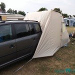 VW Touran Umbau mit Vorzelt