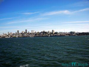 Sicht auf SF von der Alcatraz Ferry