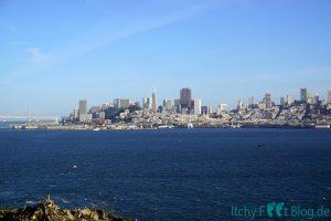 Sicht auf San Francisco von ALcatraz Island