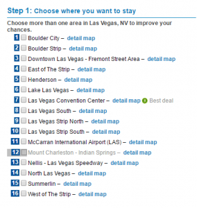 Step 1 - Screenshot von www.priceline.com