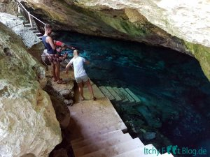 Mexiko Cenote Eingang Little Brother